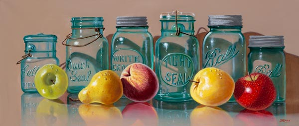 Fruit Jars with Various Fruits