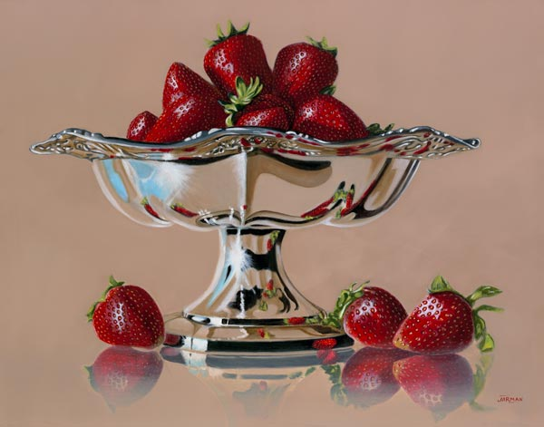 Strawberries and Silver Compote